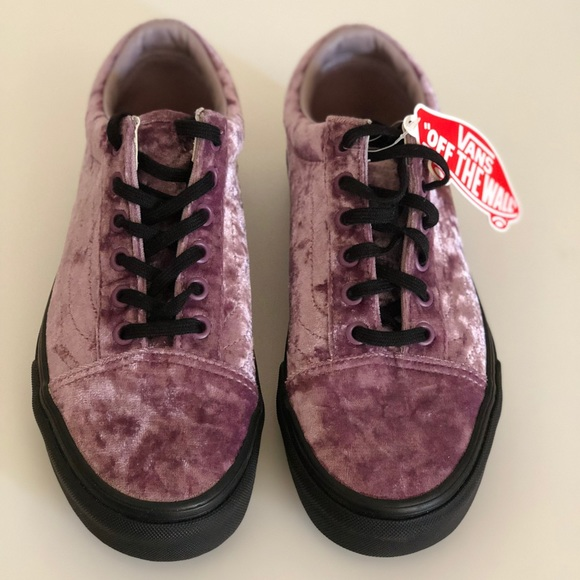 de2ea12a9a7110 Vans Old Skool Velvet Purple Sea Fog Black Gum